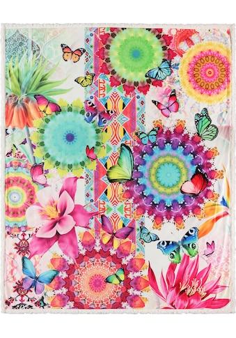 hip Plaid »Feliz«, mit Mandalas und Schmetterlingen kaufen