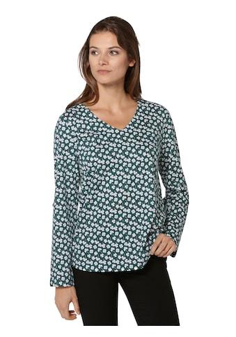 Ambria Shirt mit Kleeblättern bedruckt kaufen