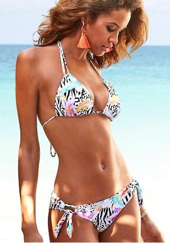 LASCANA Triangel-Bikini, mit trendigem Animalprint kaufen