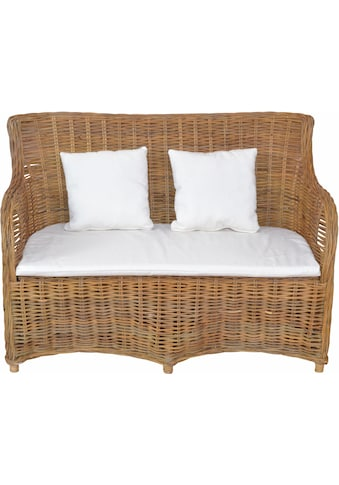 Home affaire Sofa, aus handgeflochtenem Kubu-Rattan und sechs Füssen kaufen