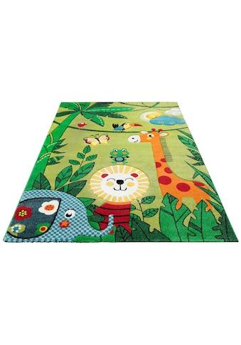 Lüttenhütt Kinderteppich »Dschungel«, rechteckig, 13 mm Höhe, handgearbeiteter... kaufen