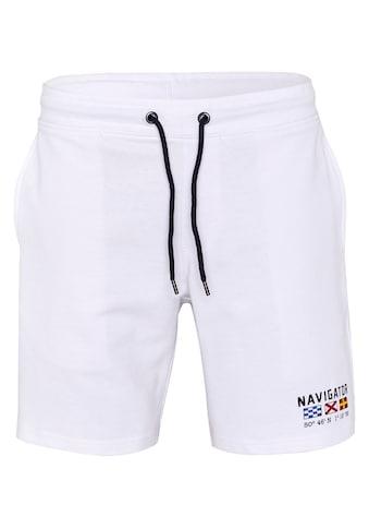 NAVIGATOR Sweatshorts »Men Sweat Pants mit elastischem Bündchen, GOTS«, Regular Fit kaufen