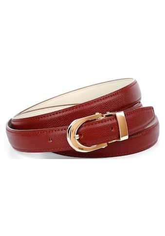 Anthoni Crown Ledergürtel, mit goldfarbener Schliesse kaufen