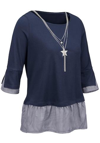 Ambria Shirt mit Saum aus gestreiftem Webstoff kaufen