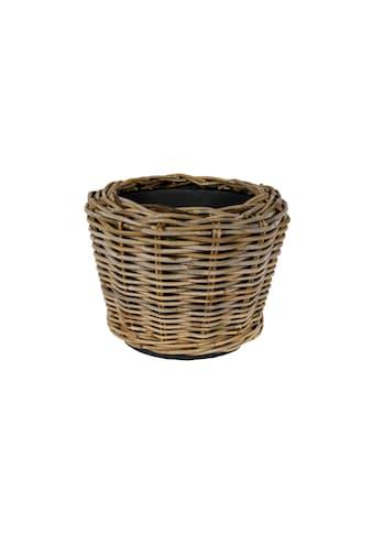 Blumentopf »Jaco Pflanzengefäss Drypot Korb«, Material: Plastik, Rattan kaufen