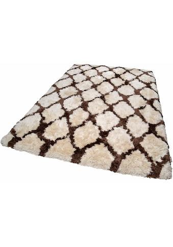 Hochflor - Teppich, »Flocatic Pattern«, TOM TAILOR, rechteckig, Höhe 65 mm, handgetuftet kaufen