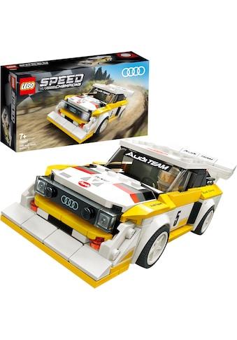 LEGO® Konstruktionsspielsteine »1985 Audi Sport quattro S1 (76897), LEGO® Speed Champions«, (250 St.), Made in Europe kaufen