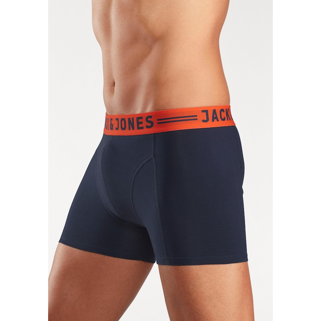 Jack & Jones Boxer »JAC Lichfield Trunks«, mit kontrastfarbigem Bund