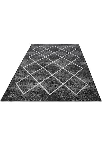 Andiamo Teppich »Bolonia«, rechteckig, 6 mm Höhe, Rauten Design, leicht meliert, Wohnzimmer kaufen