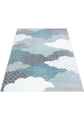 Ayyildiz Kinderteppich »Bambi 820«, rechteckig, 11 mm Höhe, Wolken Motiv, Kurzflor kaufen