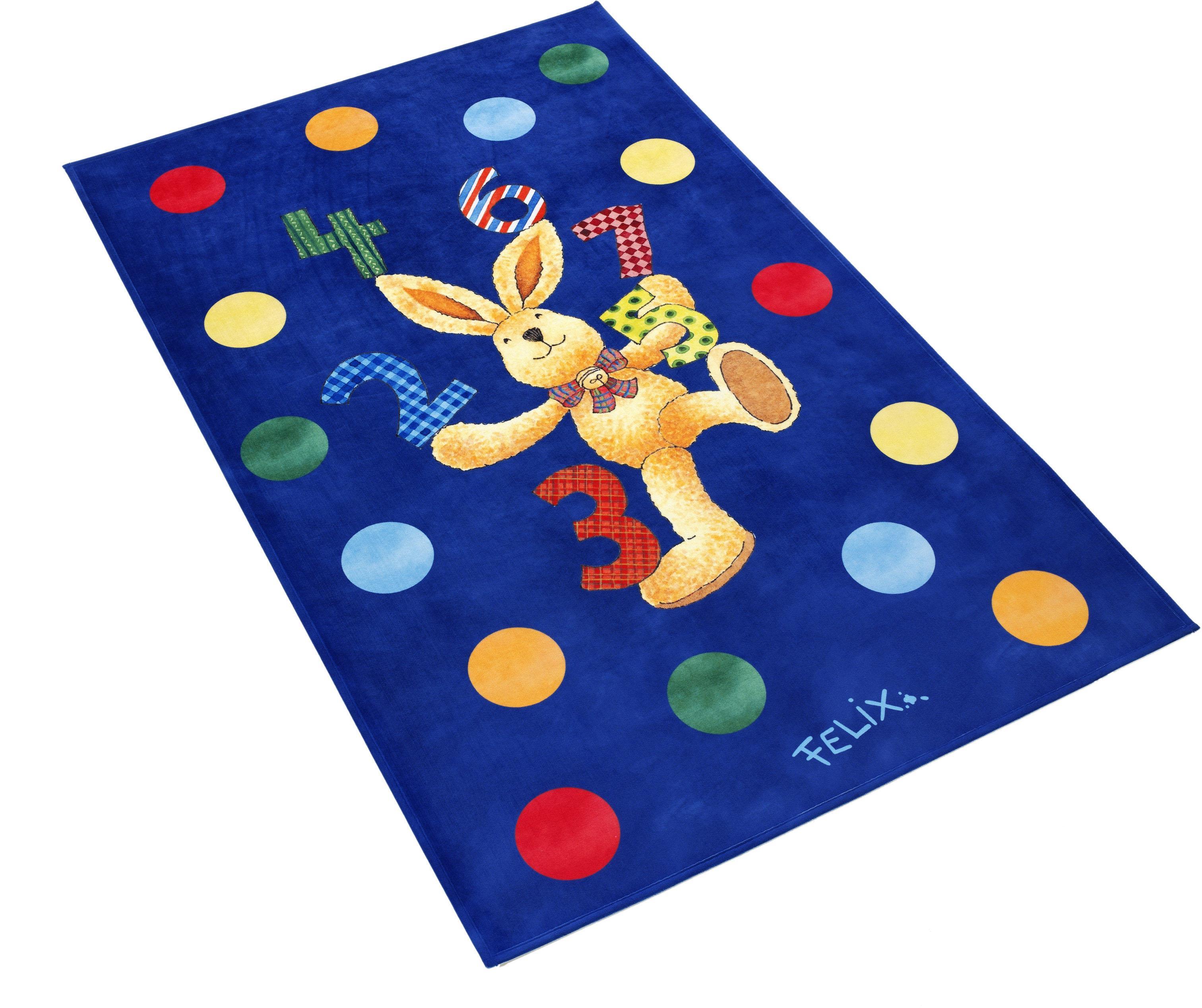 Kinderteppich FE-413 Felix der Hase rechteckig Höhe 6 mm gedruckt