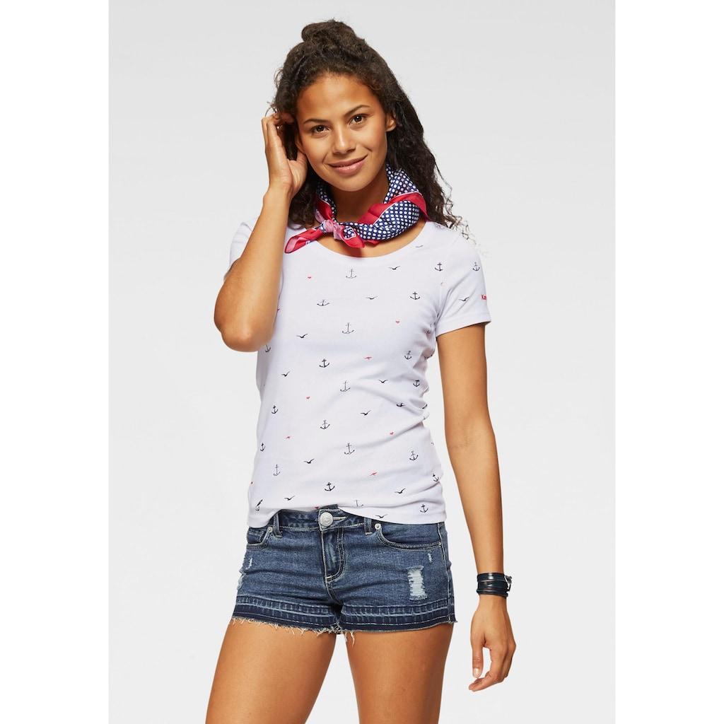 KangaROOS T-Shirt, mit Anker, Schiffchen oder Reh-Print
