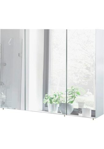 Schildmeyer Spiegelschrank »Basic«, Breite 100 cm, 3-türig, Glaseinlegeböden, Made in Germany kaufen
