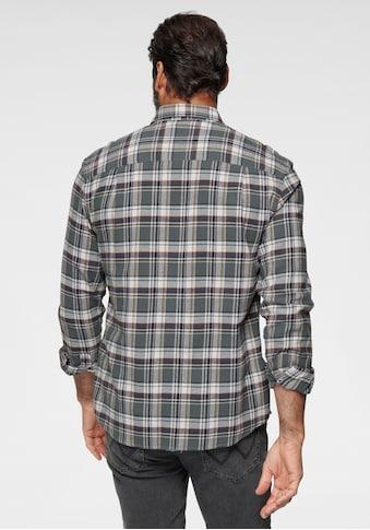 Man's World Flanellhemd, Modisches Grosskaromuster kaufen