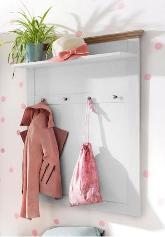 Home affaire Garderobenpaneel »Binz«, aus einer schönen Holzoptik, mit vier Haken und... kaufen