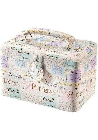 locker Nähkästchen, rechteckig, Textil WORDS mit Griff aus Stoff kaufen