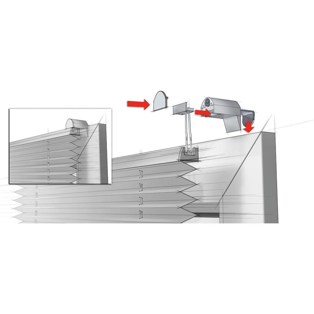 GARDINIA Plissee »EASYFIX Plissee mit 2 Bedienschienen«, Lichtschutz, ohne Bohren, verspannt