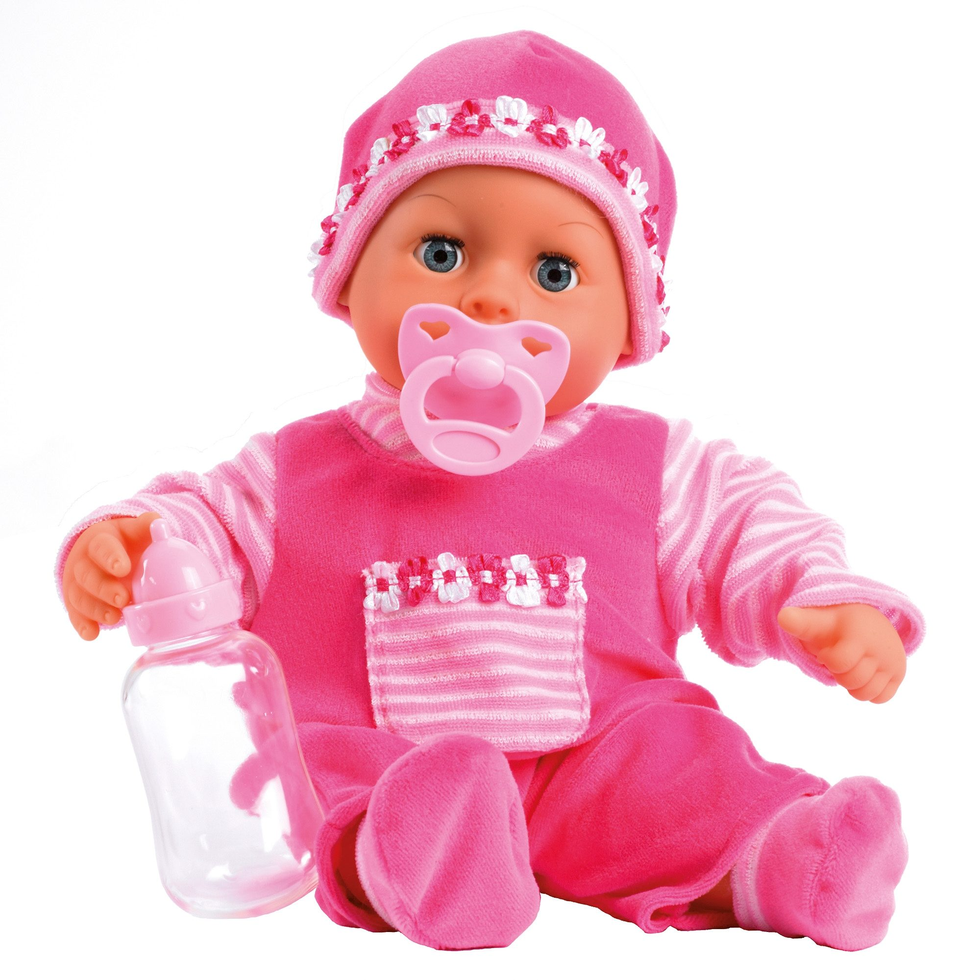 """Image of Bayer Babypuppe """"First Words, pink"""""""