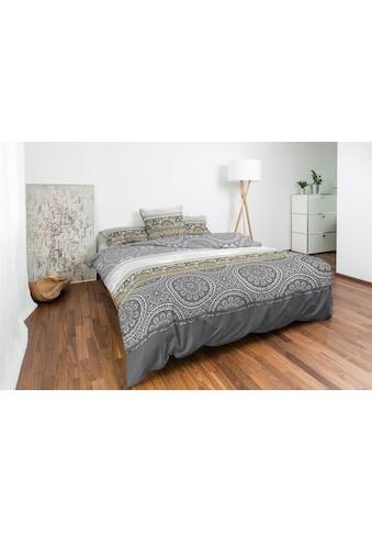 Nobilium Bettbezug »Bo, Baumwoll-Satin orientalisches Design«, (1 St.), verdeckter... kaufen