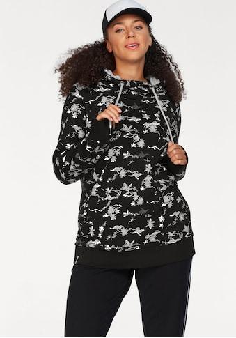KangaROOS Kapuzensweatshirt, im Allover-Print mit kontrastfarbenem Kapuzen-Futter kaufen