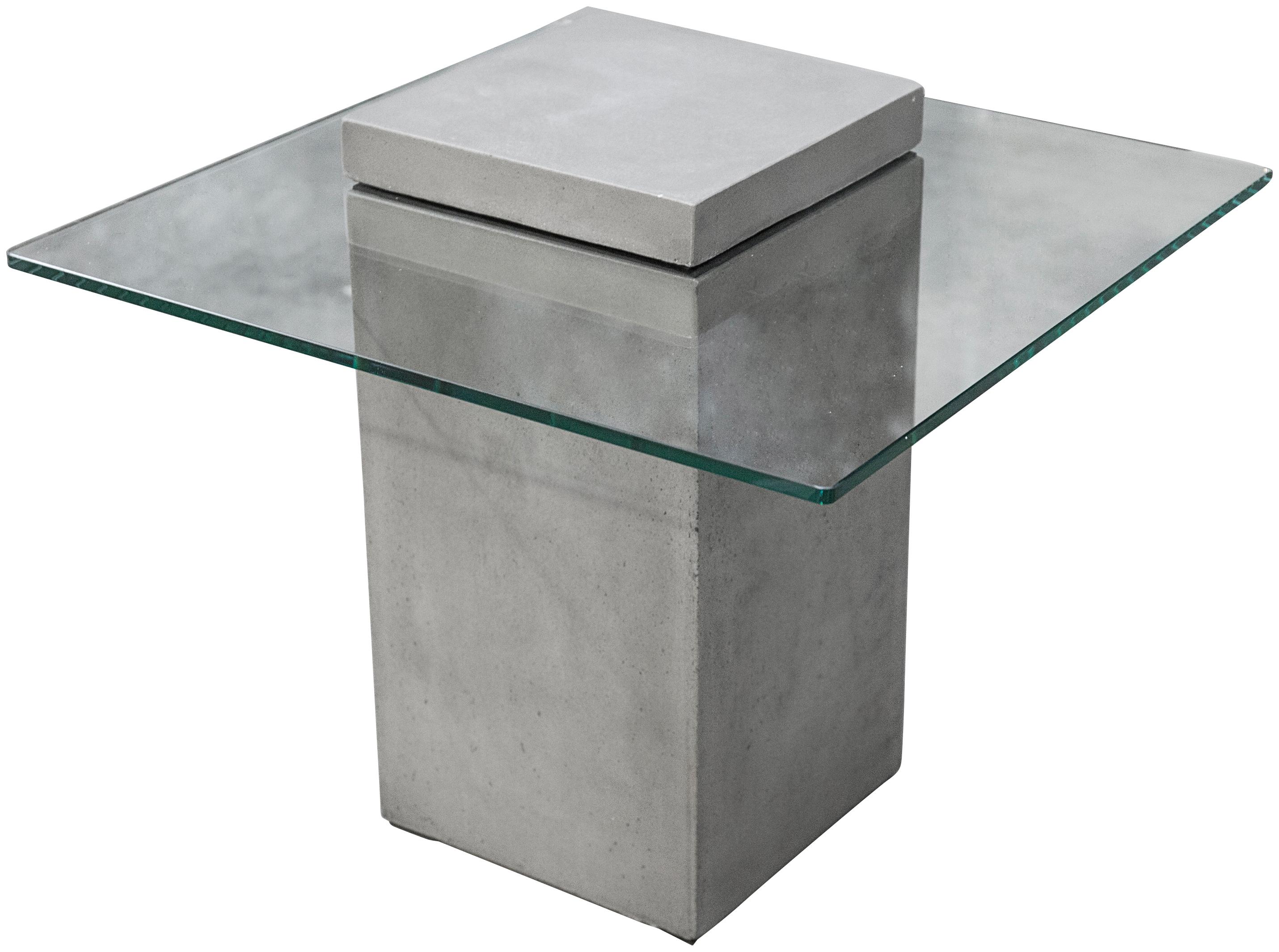 Image of ANDIAMO Gartentisch »Vitrum«, 2-tlg., Beton/Glas, Masse (B/H/T) 55x28x55 cm