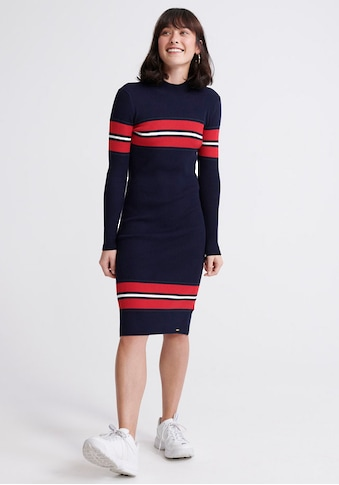 Superdry Strickkleid »HALLIE RIBBED BODYCON DRESS« kaufen