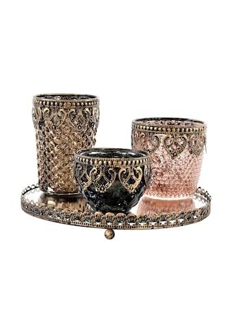 Teelichthalter »Topka 3 Stück mit Tablett« kaufen