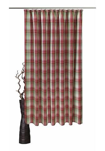 VHG Vorhang nach Mass »Lene«, Leinenoptik, Karo, skandinavisch, Breite 150 cm kaufen