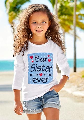 KIDSWORLD Langarmshirt »Best Sister ever«, Druck kaufen
