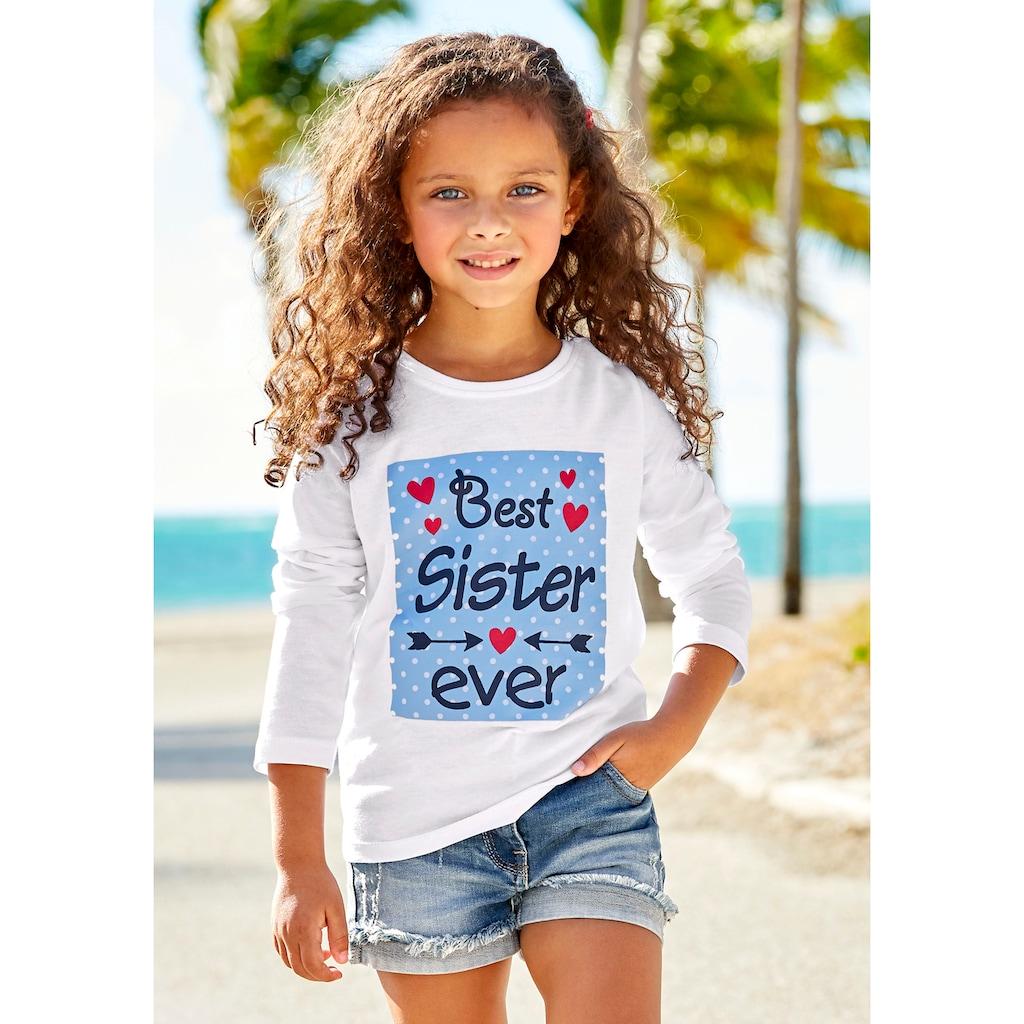 KIDSWORLD Langarmshirt »Best Sister ever«, Druck