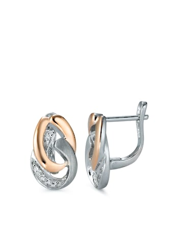 Ohrhänger Silberfarben Zirkonia rosé vergoldfarbenet kaufen