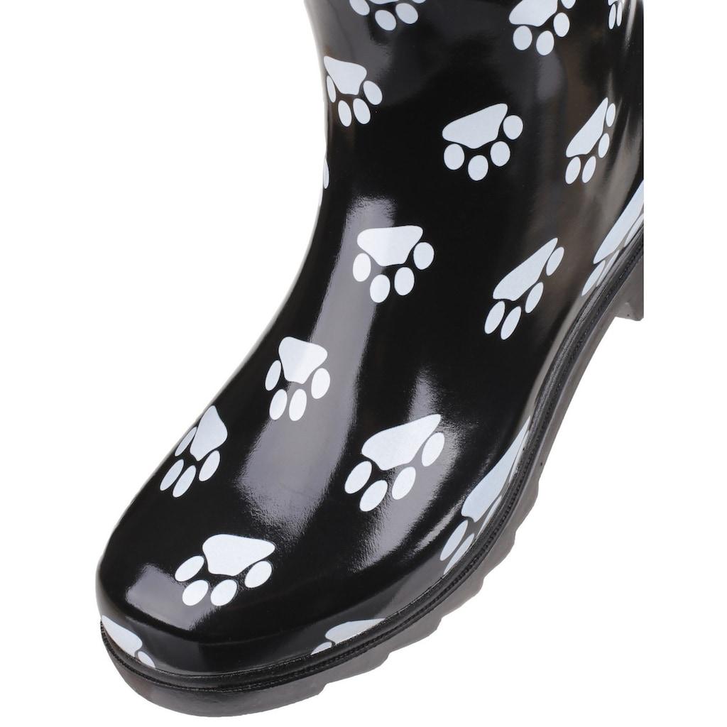 Cotswold Gummistiefel »Damen mit Hundepfoten-Muster«