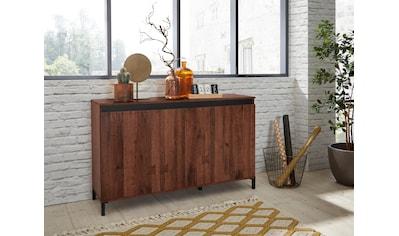 KITALY Sideboard »Genio Industrial«, Mit wendbare Blende in weiss/ anthrazit, Breite 138 cm kaufen