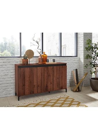 KITALY Sideboard »Genio Industrial«, Mit wendbare Blende in weiss/ anthrazit, Breite... kaufen