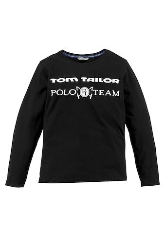 TOM TAILOR Polo Team Langarmshirt, mit Logo-Druck kaufen