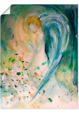 Artland Wandbild »Engelbild abstrakt«, klassische Fantasie, (1 St.), in vielen Grössen & Produktarten - Alubild / Outdoorbild für den Aussenbereich, Leinwandbild, Poster, Wandaufkleber / Wandtattoo auch für Badezimmer geeignet kaufen