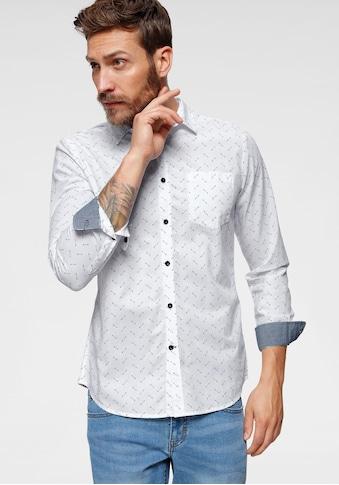 Bruno Banani Langarmhemd, allover bedruckt kaufen