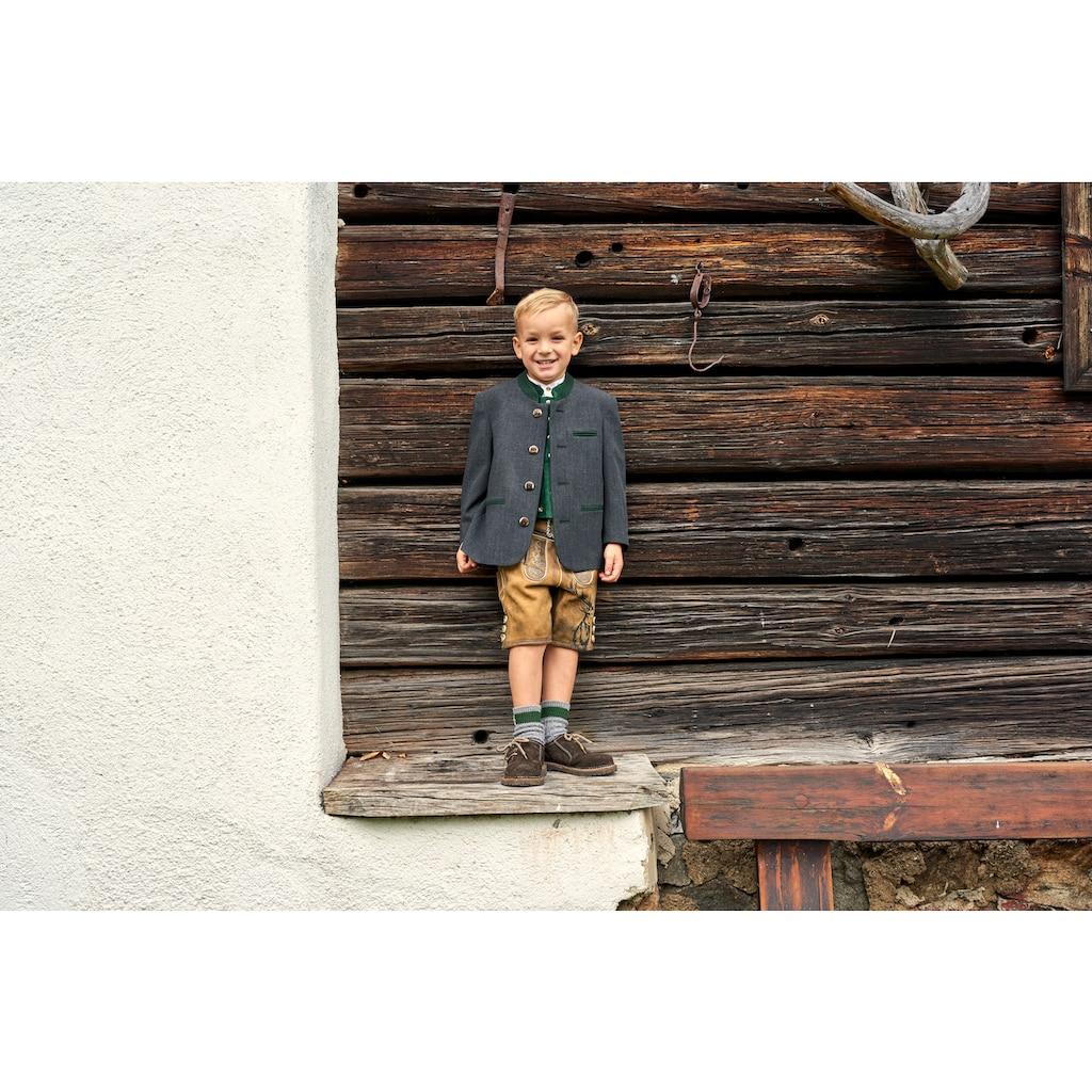 Turi Landhaus Trachtenjacke, mit Kellerfalte und Knöpfe in Hirschhornoptik