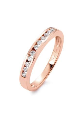 Memory Ring 750/18 K Rotgoldfarben Diamant 0.20 ct kaufen