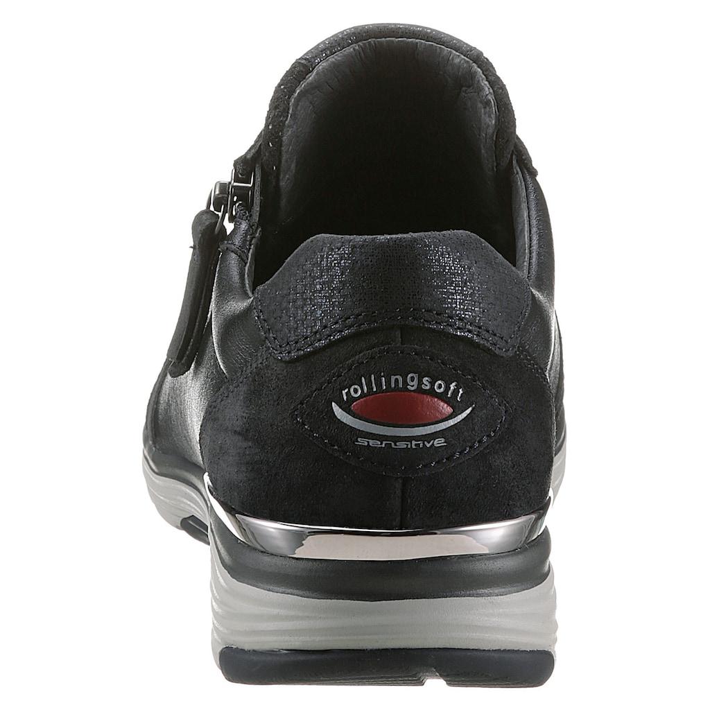 Gabor Rollingsoft Keilsneaker, mit schimmerndem Metallicglanz
