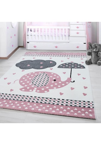 Ayyildiz Kinderteppich »Kids 570«, rechteckig, 12 mm Höhe, Elefanten Motiv, Kurzflor kaufen