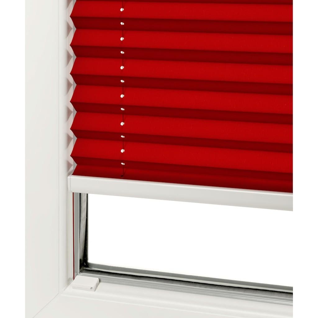 Good Life Dachfensterplissee nach Mass »Dena«, Lichtschutz, mit Bohren, verspannt, Schienenfarbe in weiss