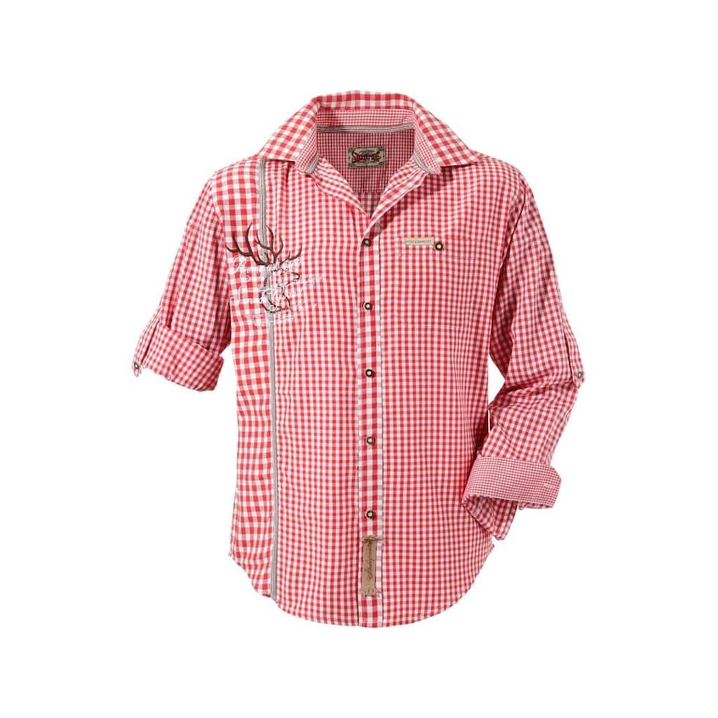 Stockerpoint Trachtenhemd, mit traditioneller Strickerei