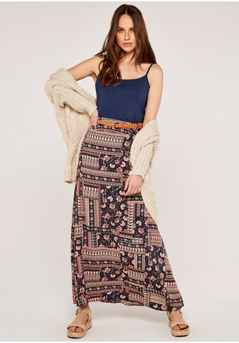 Apricot Maxirock »Sarasa Patchwork Belted Skirt«, (mit Gürtel), mit Flechtgürtel kaufen