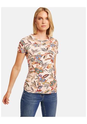 Taifun T - Shirt Kurzarm Rundhals »Shirt mit Cut - Outs am Ausschnitt« kaufen