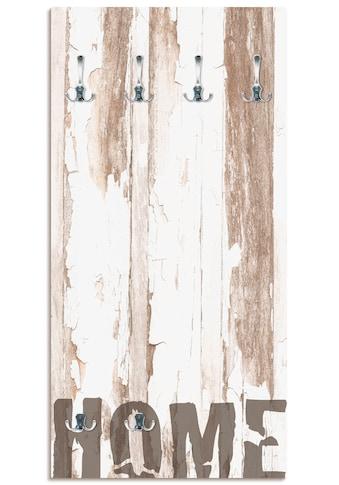 Artland Garderobe »Home«, platzsparende Wandgarderobe aus Holz mit 6 Haken, geeignet... kaufen
