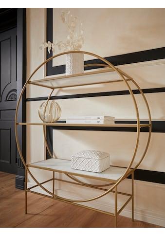 Guido Maria Kretschmer Home&Living Standregal »Shinely«, Gestell aus Metall, Ablageflächen aus Glas kaufen