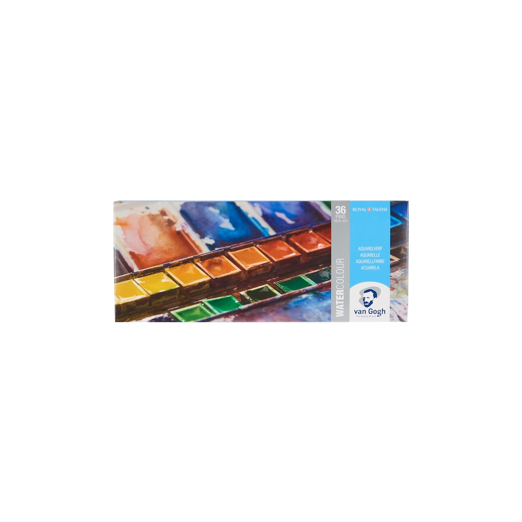 Aquarellfarbe »Malkasten 36er-Set, Mehrfarbig«
