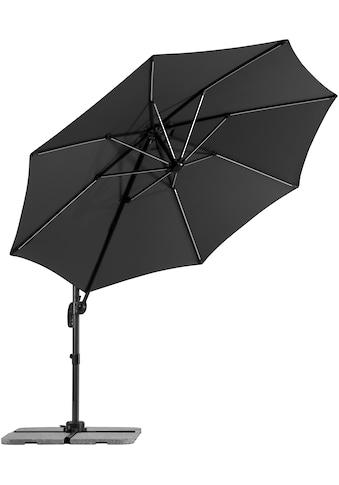 Schneider Schirme Ampelschirm »Rhodos Blacklight«, Inkl. Schutzhülle mit Schirmständer, ohne Wegeplatten kaufen