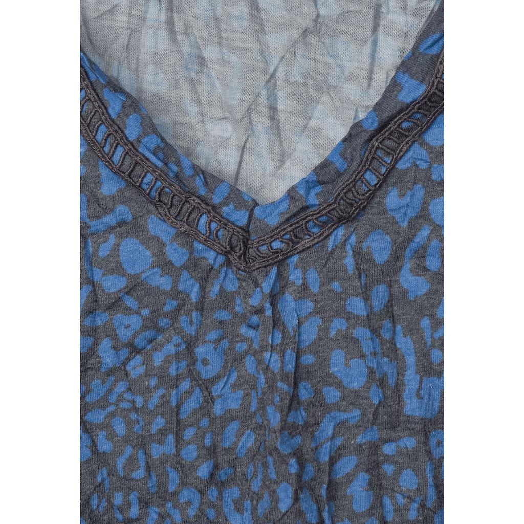 Cecil V-Shirt, mit Leomuster